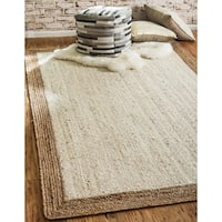 Unique Loom Haryana Braided Jute Area Rug - 9' x 12'