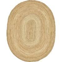 Unique Loom Goa Braided Jute Oval Rug - 8' x 10'