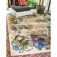 Unique Loom Pansy Outdoor Area Rug - 10' x 12'