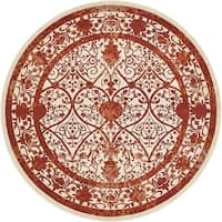 Unique Loom Traditional La Jolla Round Rug - 8' x 8'
