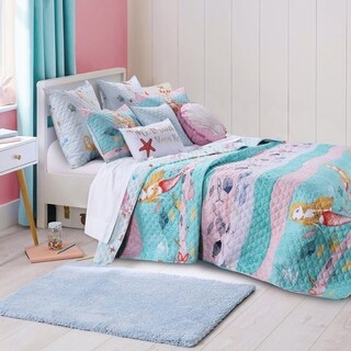Greenland Home Fashions Mermaid 3-piece Quilt Set