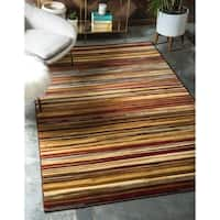 Unique Loom Icatu Coffee Shop Area Rug - 9' x 12'