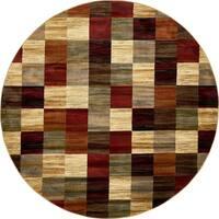 Unique Loom Kent Barista Round Rug - 8' x 8'