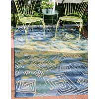 Unique Loom Vortex Outdoor Area Rug - 10' x 12'
