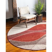 Unique Loom Autumn Plantation Round Rug - 8' x 8'