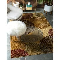 Unique Loom Java Coffee Shop Area Rug - 9' x 12'