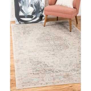 Kensington Dark Grey/Beige Floral Area Rug (9' x 12')