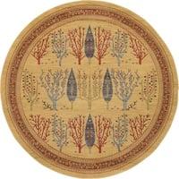 Unique Loom Mesquite Fars Round Rug - 8' x 8'