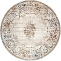 Unique Loom Lincoln Chateau Round Rug - 8' x 8' Round