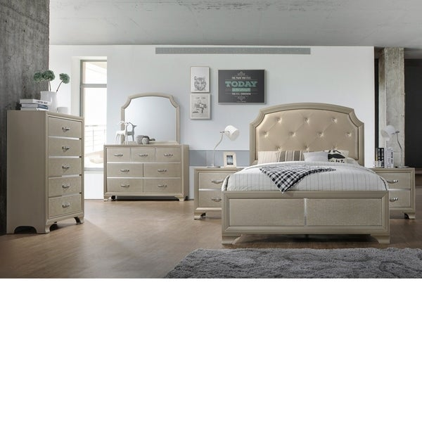 Home Source Bedroom Furniture King Bed/Dresser/Mirror/Night stand
