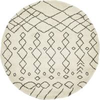 Unique Loom Geometric Rabat Shag Round Rug - 8' x 8'