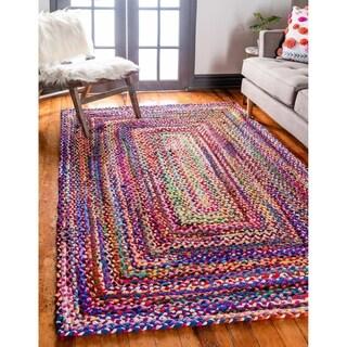 Unique Loom Braided Chindi Area Rug