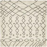 Unique Loom Geometric Rabat Shag Square Rug - 8' Square