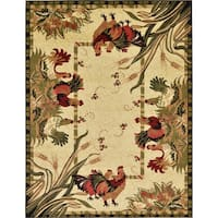 Unique Loom Barnyard Farm Area Rug - 9' x 12'