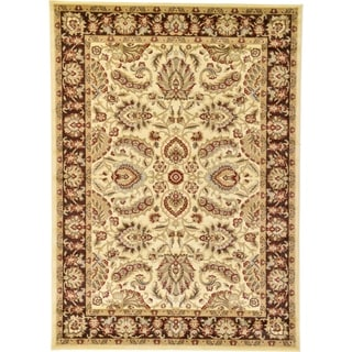 agra red floral area rug 7u0027 x
