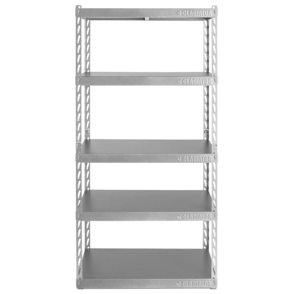 "Gladiator GarageWorks 36"" Wide EZ Connect Rack with Five 18"" Deep Shelves"