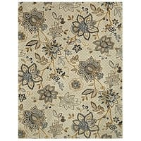 Riviera Floral Beige Large Area Rug - 8' x10'