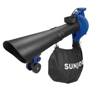 Sun Joe SBJ606E-GA-BLU-RM 4-in-1 Electric Blower 250 MPH 14 Amp Vacuum/Mulcher/Gutter Cleaner/Blue Refurbished)