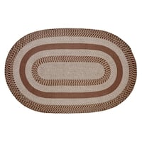 Better Trends Newport Brown Braided Area Rug - 5' x 8'