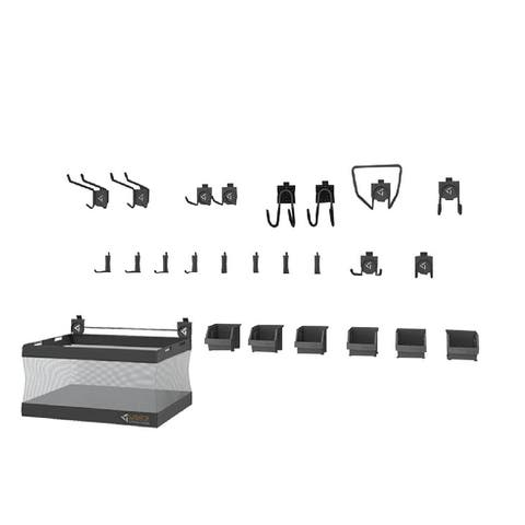 Gladiator GarageWorks 25-piece Accessory Starter Kit Deluxe - Multiple parts and accessoies