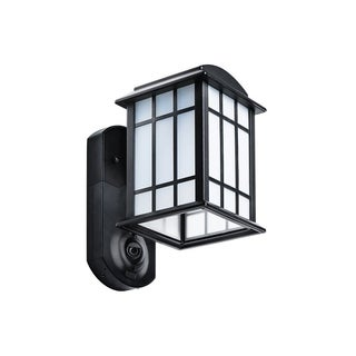 Maximus Smart Home Security Outdoor Light & Camera - Craftsman Black