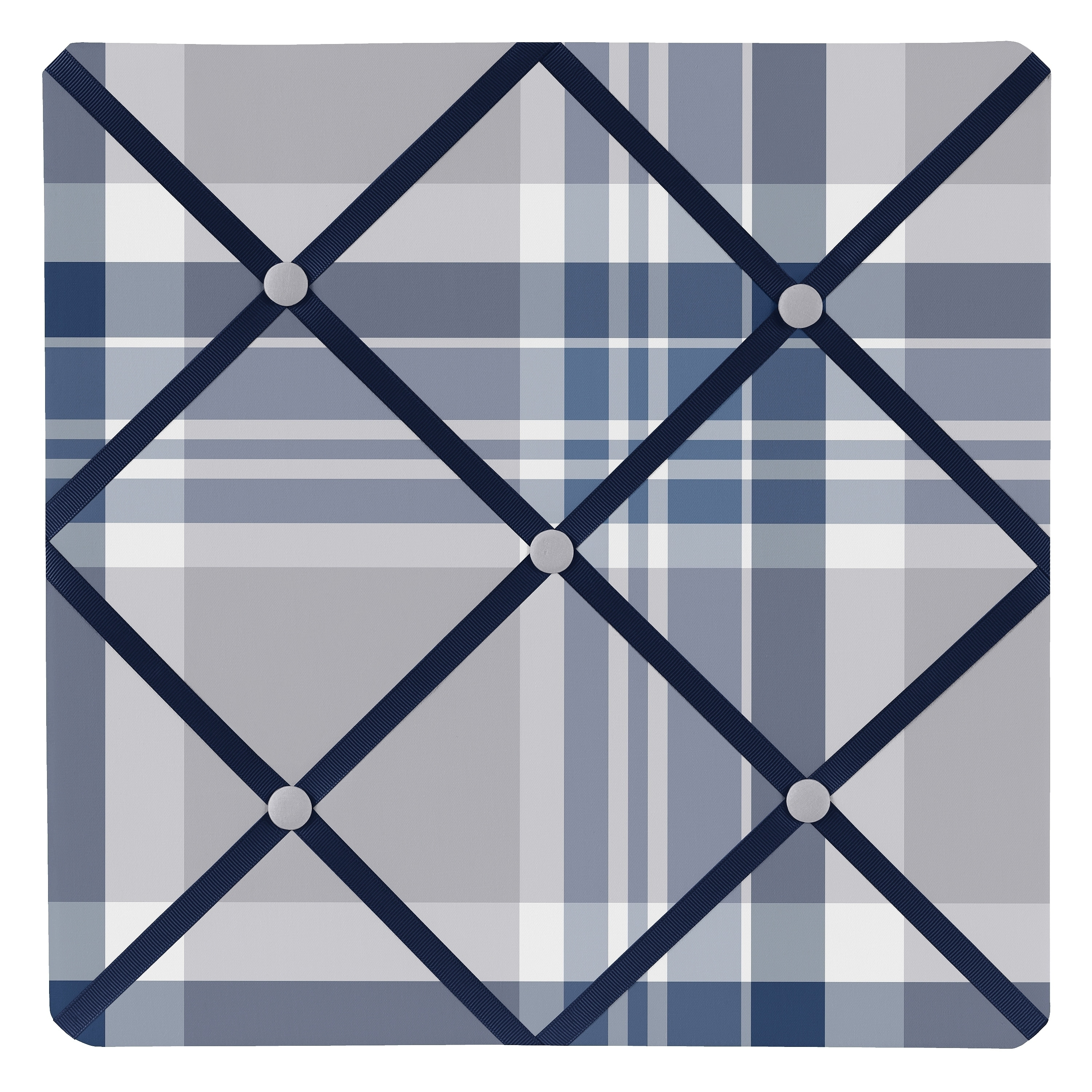 JoJo Designs Memo Board for the Navy Blue and Gray Plaid ...
