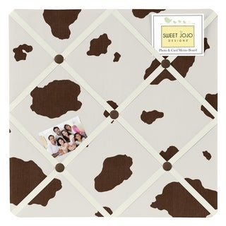 Sweet Jojo Designs Cow Print Memo Board for the Wild West Collection