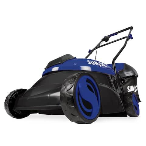 Sun Joe MJ401C-XR-SJB Cordless Lawn Mower 14 inch 28V 5 Ah Brushless Motor (Blue)