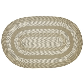 "Newport 42"" x 66"" Braided Rug -  Tan - 3'6"" x 5'6"" Oval"