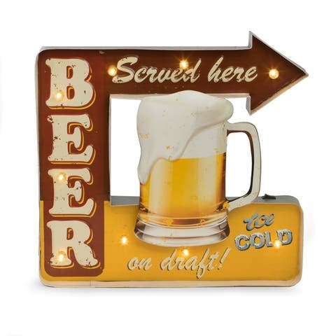"""Beer Served Here"" Metal Sign"