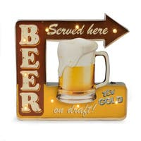 """Beer Served Here"" Metal Sign"