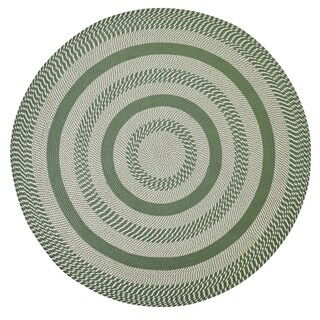 Better Trends Newport Sage Green Round Braided Area Rug - 6'
