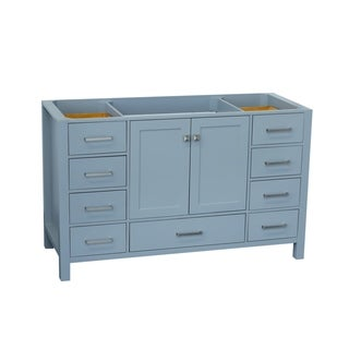 Ariel Cambridge 54 In. Single Sink Base Cabinet In Grey