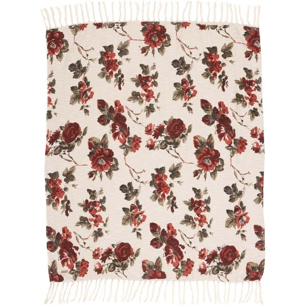 Indian/South Asian Afghans & Throw Blankets Mariell Rose Floral ...