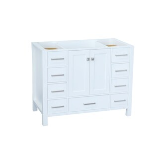Ariel Cambridge 42 In. Single Sink Base Cabinet In White