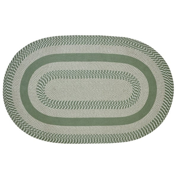 "Newport 22"" x 40"" Braided Rug - Sage - 1'10"" x 3'4"" Oval"