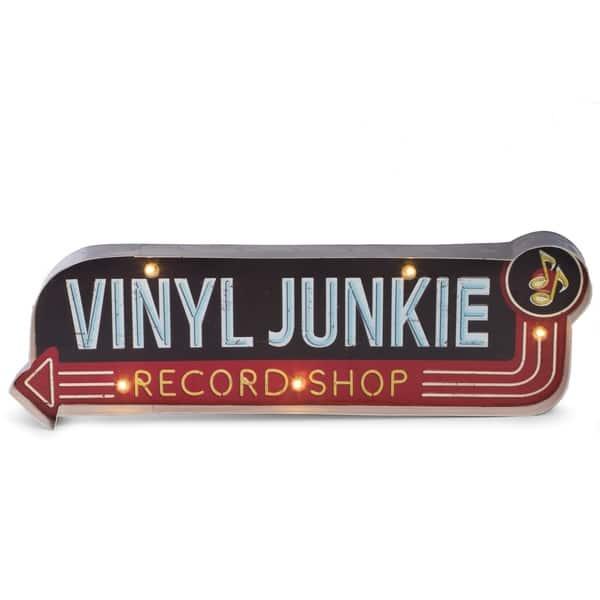 Shop Black Friday Deals On Vinyl Junkie Metal Sign On Sale Overstock 18084071