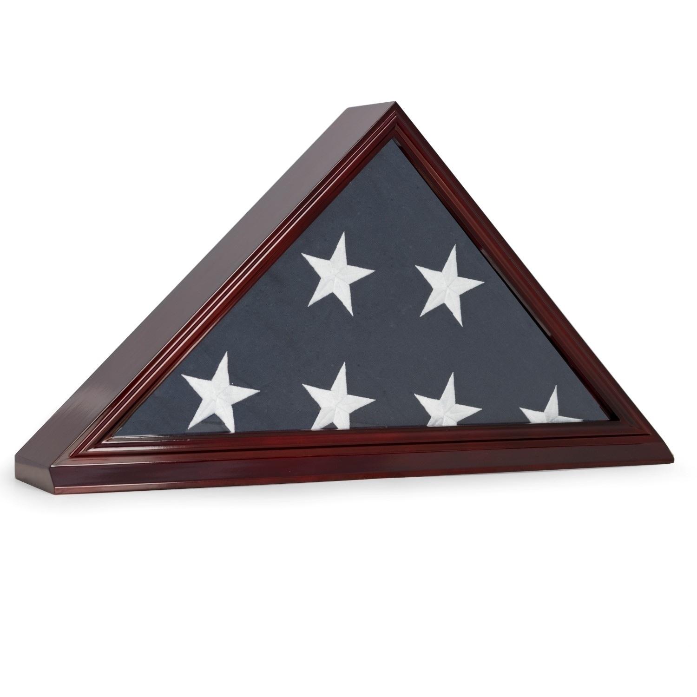 Bey Berk Flag Display Case, Brown (Wood)