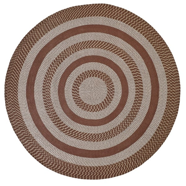 Better Trends Newport Brown Braided Round Rug - 6' Round