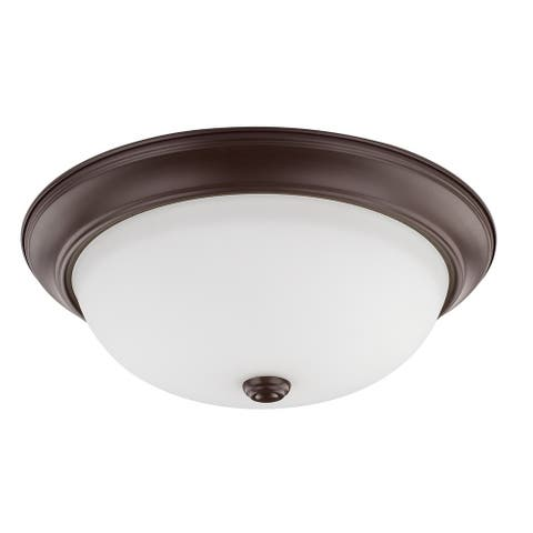 3-light Bronze Flush Mount
