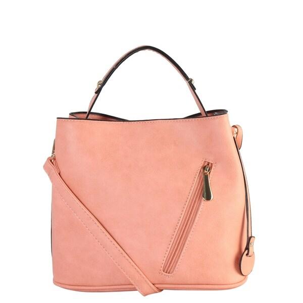 Shop Diophy Multi Spaced Medium Hobo with Sloped Zipper Pocket ... 76d4284ba6