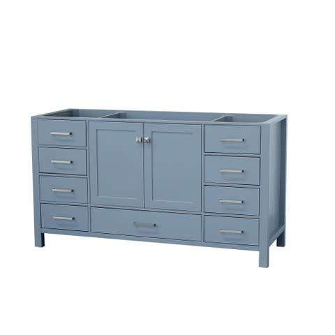 Ariel Cambridge 60 In. Single Sink Base Cabinet In Grey
