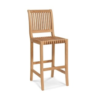 Palm Outdoor Teak Bar Chair