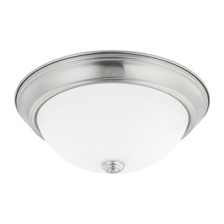 Capital Lighting Ceiling Collection 2-light Brushed Nickel Flush Mount
