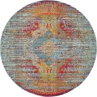 Unique Loom Picasso Arte Round Rug - 8' x 8'