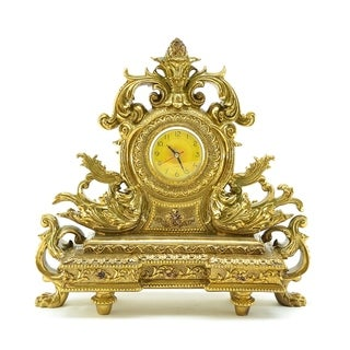 """Table/Mantle Gold Clock, 17"""""""