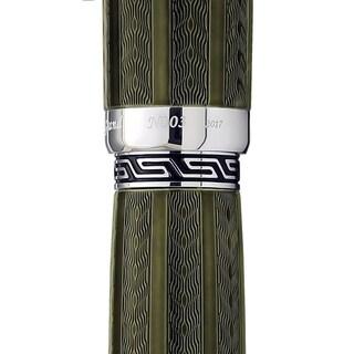 Xezo Maestro LeGrand Diamond Cut, Lacquered, Platinum Plated Fine Rollerball Pen in Moldavite Color