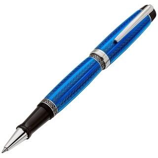 Xezo Maestro LeGrand Diamond Cut, Lacquered, Platinum Plated Fine Rollerball Pen in Tanzanite Color