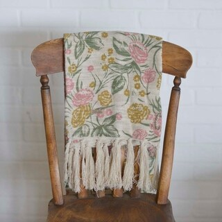 Madeline Printed Floral Woven Throw