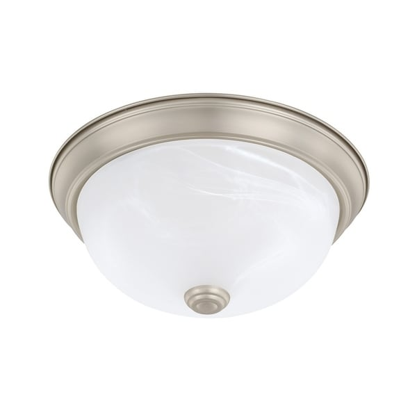 Capital Lighting Ceiling Collection 2-light Matte Nickel Flush Mount